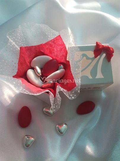 La Mini Rosée rouge et blanc