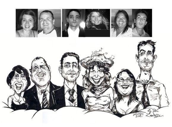 Caricatures mariés & témoins!