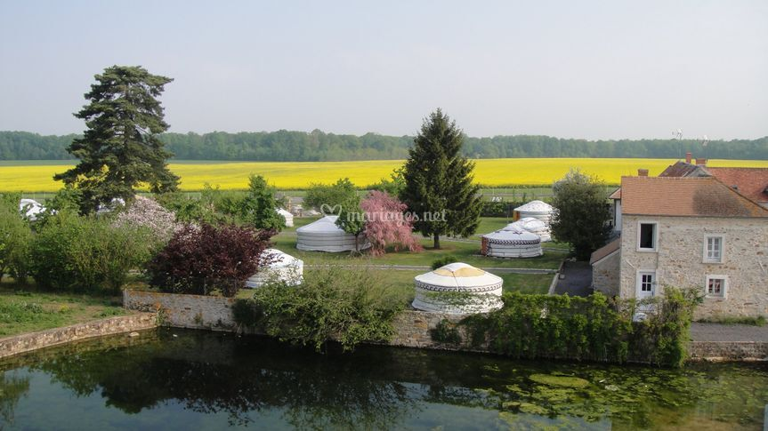 Jardin des yourtes