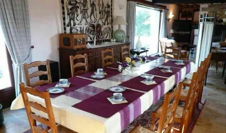 Josy Bed & Breakfast table