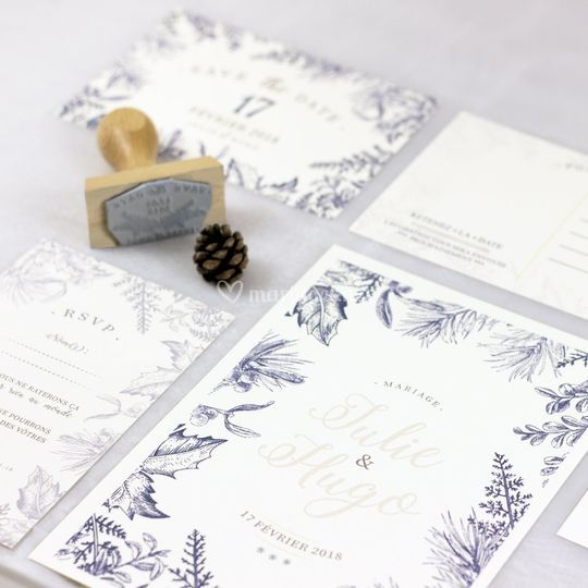 Papeterie mariage hiver