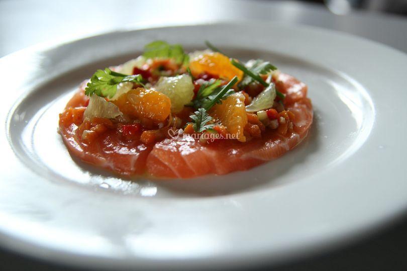Ceviché de saumon