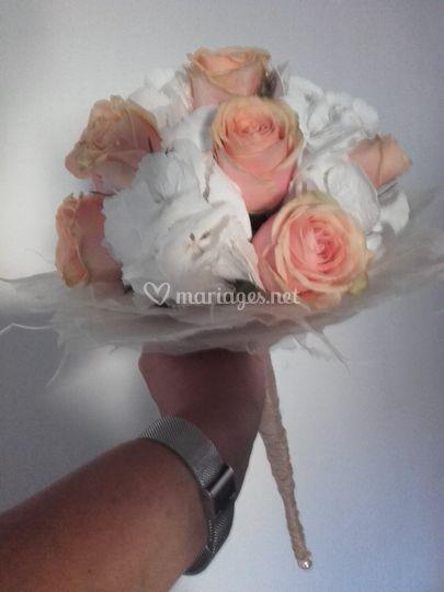 Mariage 4 août bouquet de mariée