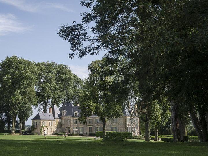 Vue du parc sur le Château