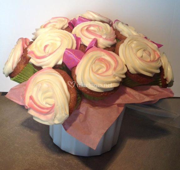 Bouquet de cup cakes