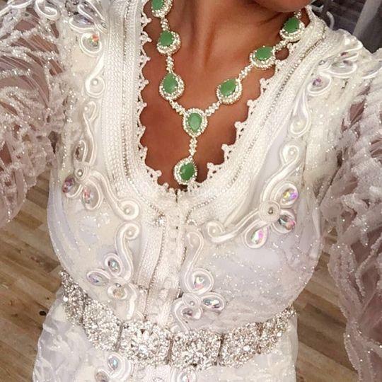 Look total blanc touche verte