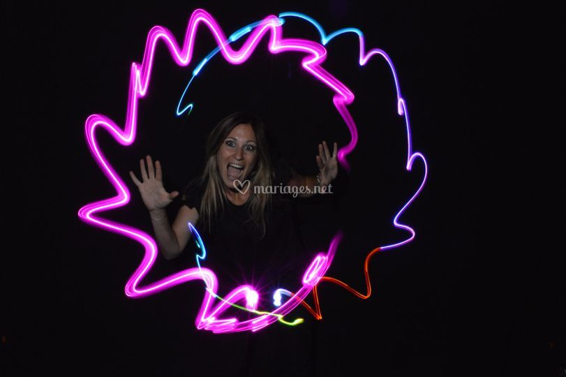 Light painting mariage