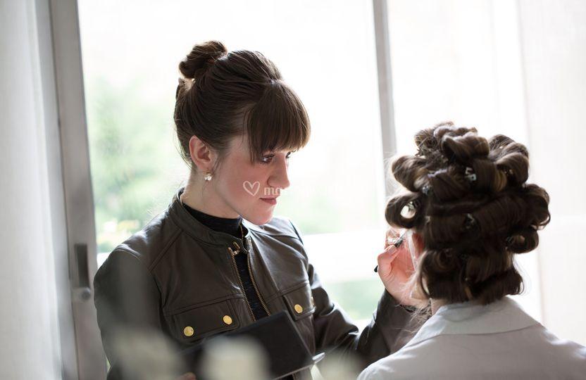 Preparatif maquillage Elana