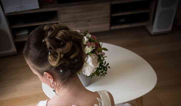 Belle coiffure mariée Elena