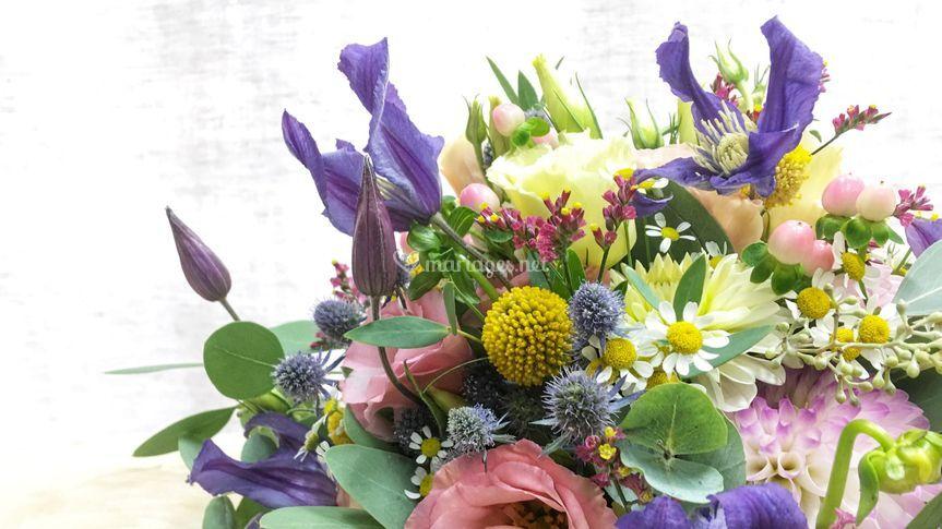 Détails du bouquet de mariée