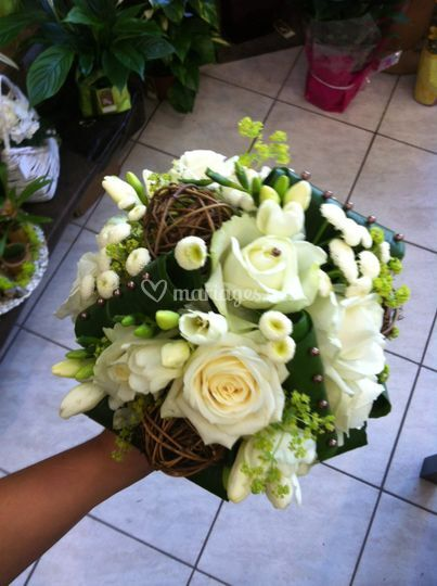 Bouquet mariée avec rodin