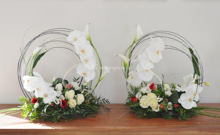 Déco buffet orchidées