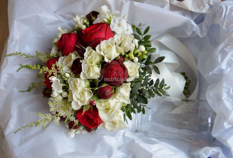 Roses piano Bouquet de mariée