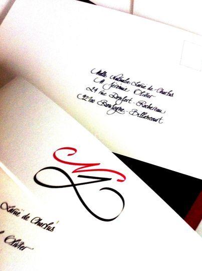 Création logo initiales mariés