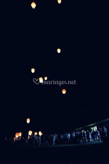 Lâché de lanternes