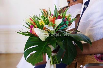 Bouquet mariage tropicale