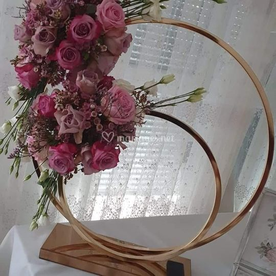 Double cercle rose gold