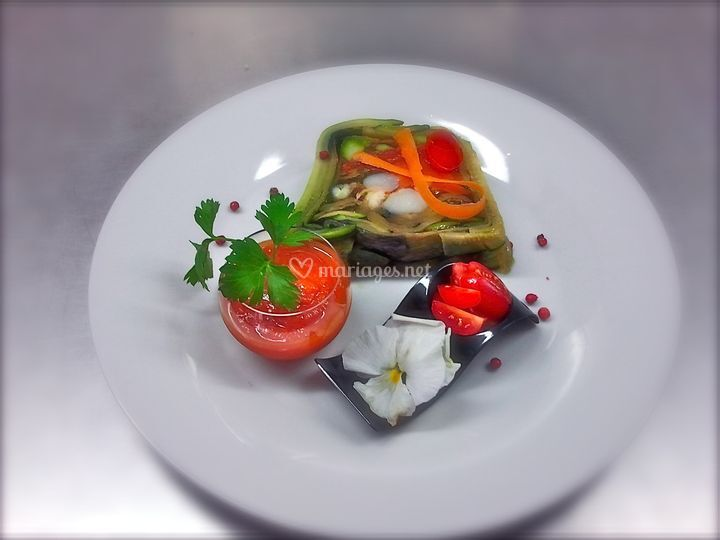 Terrine de lotte et saumon