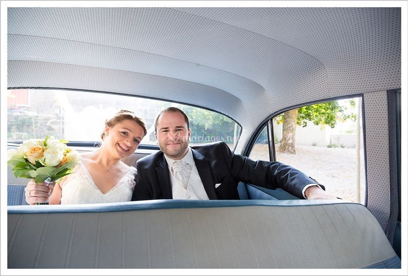 Des mariés heureux!