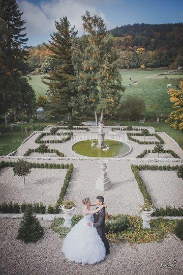 Les  jardins vue du château
