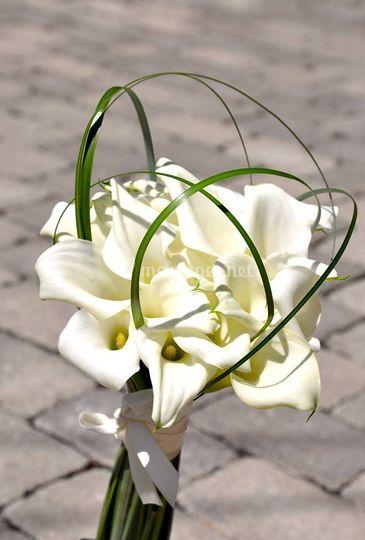 Bouquet mariée calla blanc