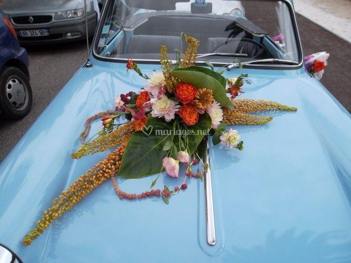 Décoration voiture champêtre