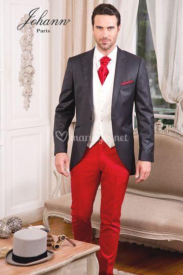 Veste et pantalon rouge
