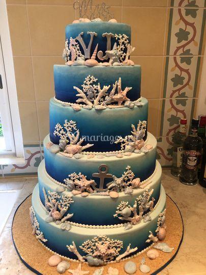 Wedding cake thème Mer