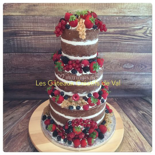 Nude cake fruits rouges