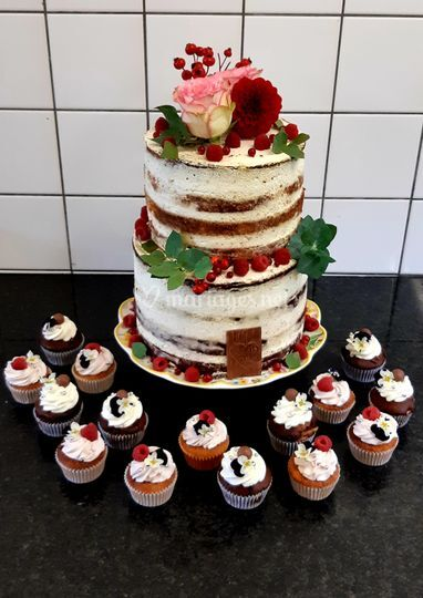 Wedding cake automnal