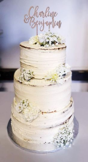 Wedding cake champêtre chic