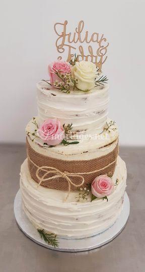 Wedding cake élégant