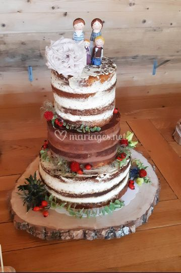 Wedding nude cake