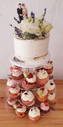 Et pyramide cupcakes