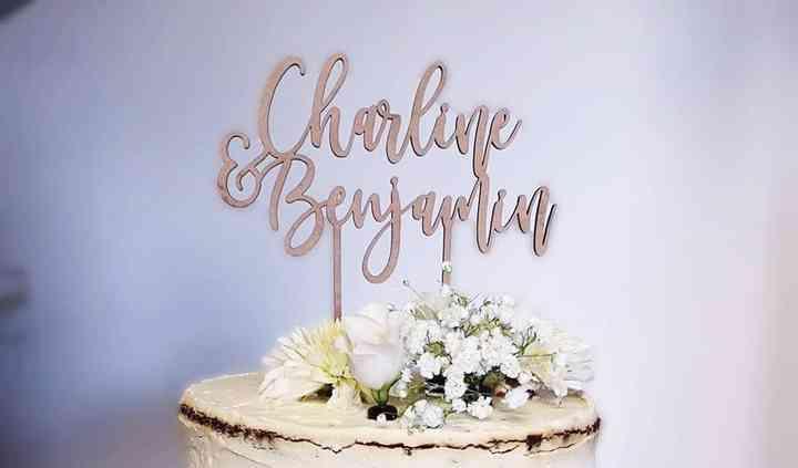 Wedding cake champêtre chic