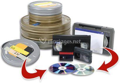 Transfert dvd de k7 et bobines