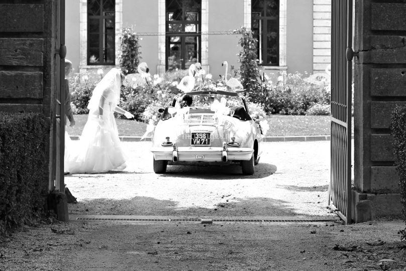 Mariage noir et blanc, effet haute couture!