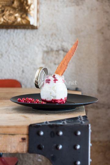 Mousse chocolat blanc frambois