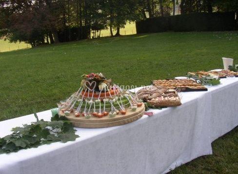 Buffet cocktail aperitif