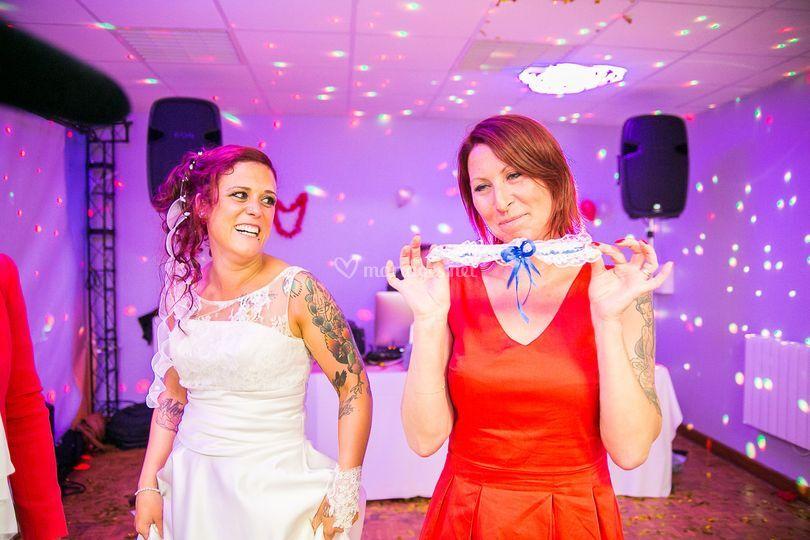Porte jartelle mariage