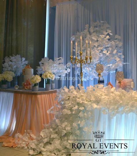 Table d'honneur & wedding cake