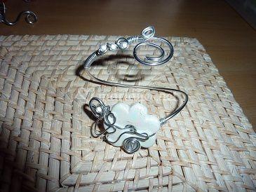 Bracelet, fleur céramique