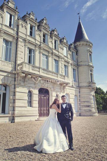 Photo couple face Chateau