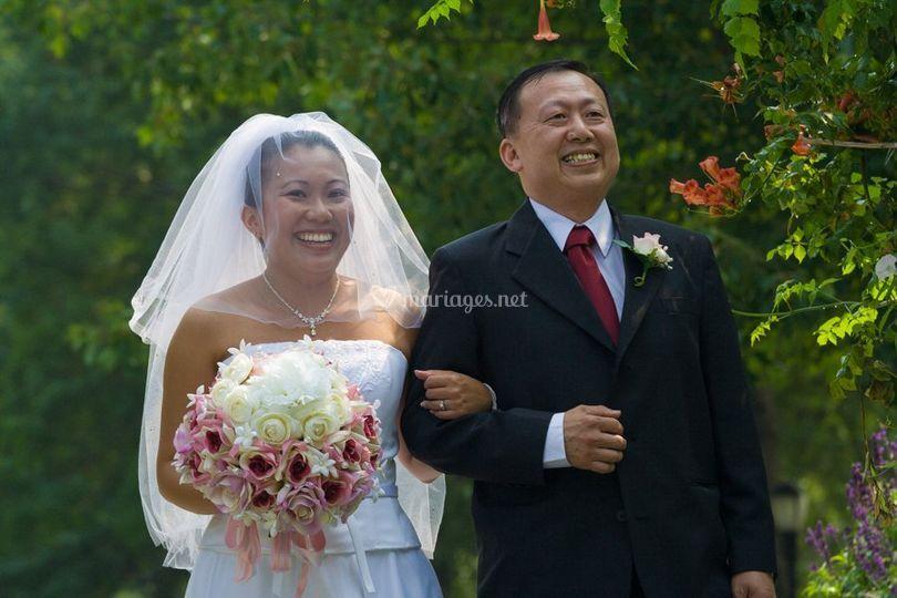 Mariée et son père