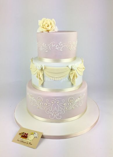 Wedding Cake Pastel Romantique