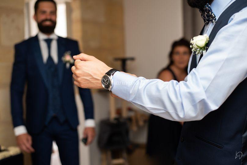 Le marié et son témoin