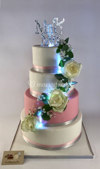 Wedding Cake Led Rose