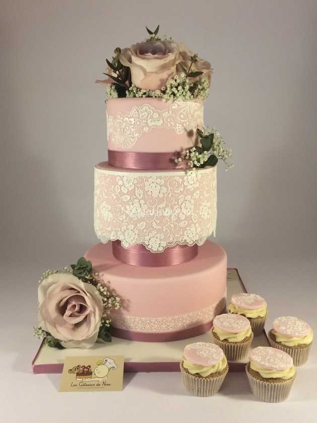 Wedding Cake Champetre Retro De Les Gateaux De Nino Photo 1