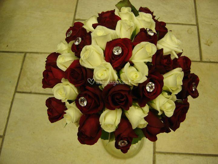 Bouquet rose et diamant
