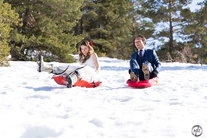 Trash the dress à la neige